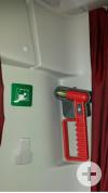Nothammer - dadurch lassen sich die Scheiben von innen bei Gefahr öffnen.